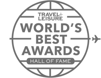 Badge for Travel + Leisure World's Best Awards hall of fame
