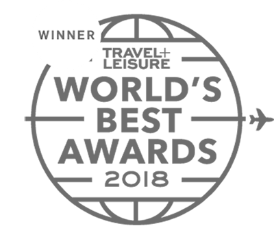 Winner Travel+Leisure World's Best Awards 2018