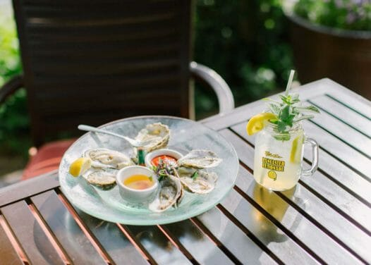 clear glass plate with shells